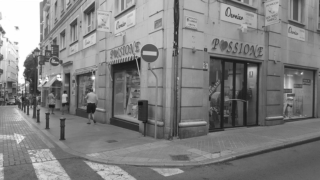 Estado previo en proyecto de interiorismo y decoración para restaurante de cocina internacional
