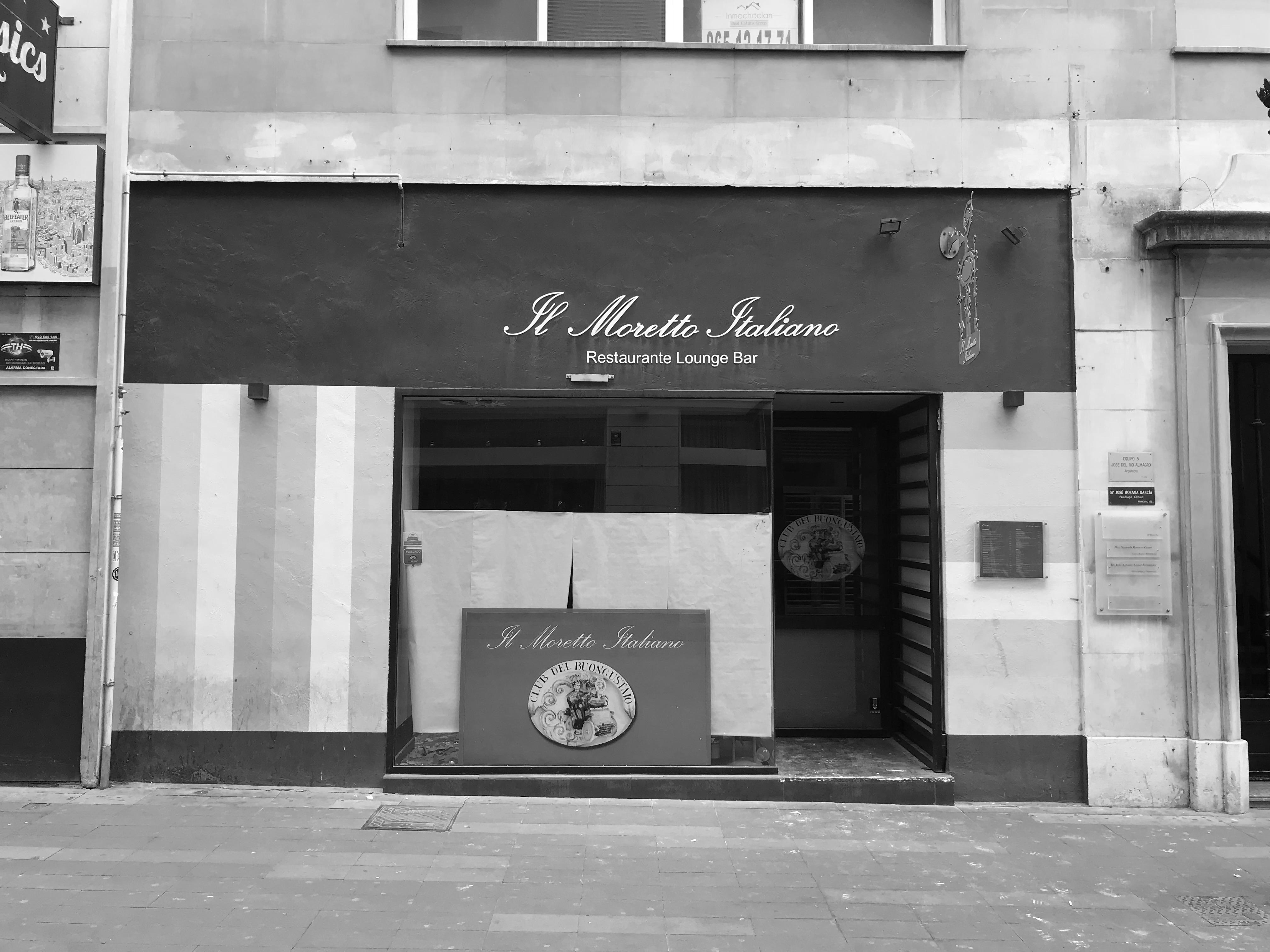 Estado previo proyecto de interiorismo de estilo clásico-contemporáneo italiano. Restaurante Sale&Pepe.