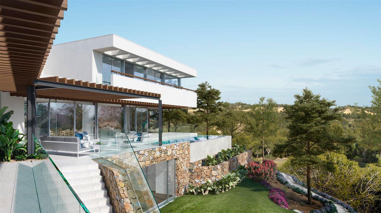 Render de la vivienda unifamiliar Madroño